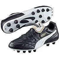 Puma King Top Di Fg – Botas de fútbol de piel superior fútbol Zapatillas de deporte, negro/blanco