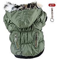 Handfly Haustier kleine Hund Winter warme Kleidung Reißverschluss-Mantel-Jacke Bekleidung Zubehör