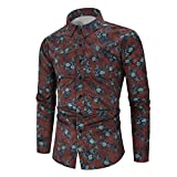 Derrick Aled(k) zhuke Heren digitaal bedrukt shirt herfst/winter lange mouw casual shirt