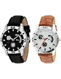 Scarter Combo Of 2 Analog Watch For Boys And Mens- S-207-211