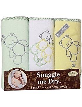 [Sponsorizzato]Set Asciugamano con cappuccio, Teddy, confezione da 3, Ragazzo o ragazza 76x 71cm, Frenchie Mini Couture