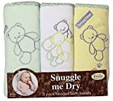 Teddy Bear Hooded Bath Towel Set, 3 Pack, Boy or Girl, Frenchie Mini Couture