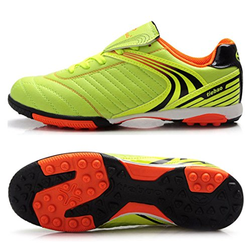Men's Turf Soles Soccer Outdoor Football Shoes Fluorescent Yellow