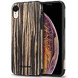 Mthinkor Coque iPhone XR Bois Souple Slim Parfait Fit Coque pour iPhone XR (Bois de...