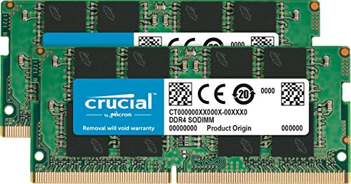 Crucial CT2K16G4SFD8266 32Go Kit (16Go x2) (DDR4, 2666 MT/s, PC4-21300, Dual Rank x8, SODIMM, 260-Pin) Mémoire