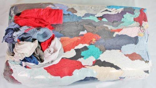 Putzlappen aus Baumwolle 25 kg Putztücher für Werkstatt Sack Tücher Lappen (1kg=1,20EUR)