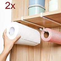 2x Küchenrollenhalter Universal Küche Rollen Halter Schrank Storage