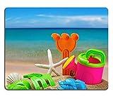 Liili-Tappetino per Mouse in gomma naturale, gioco per bambini contro Mousepads sandboxes il 28412835 mare e spiaggia