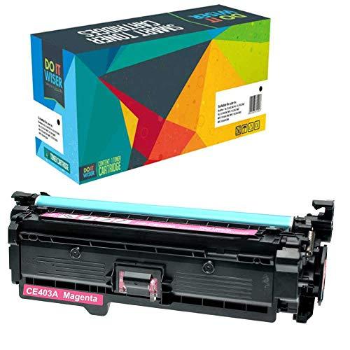 Do it Wiser Toner Kompatibel HP507A CE403A für HP 500 Color M551 M551n M551dn M551xh MFP M570 M570dn M570dw M575 M575c M575f M575dn (Magenta)