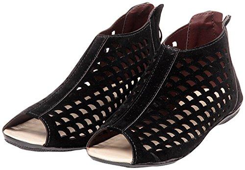 Zaiva Women's Black Pu Fashion Sandal -40