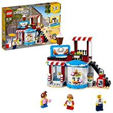 LEGO 31077 Creator 3in1 Modular Sweet Surprises Pool House and Food Corner Cafe Model Building Set, Toys for Kids 8-12 Years Old
