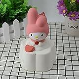 1PCS 12,5cm Soft Squishy Kaninchen Brot Kuchen Slow Rising Kinder Spielzeug Geschenk Telefon Träger