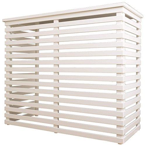 Fiano copri condizionatore in legno 102x50,5cm aria maxi bianco