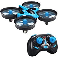 RC Quadcopter Drone,MindKoo H36 Mini UFO Drone 2.4G 4CH 6 Axis Headless Mode Remote Control One Key Return and 3D Flip Nano Quadcopter RTF Mode 2 for Kids and Beginners Drone Training