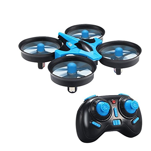 RC Quadcopter Drone,TECKEPIC H36 Mini UFO Drone 2.4G 4CH 6 Axis Headless Mode Remote Control One Key Return and 3D Flip Nano Quadcopter RTF Mode 2 for Kids and Beginners Drone Training (H36, Blue)