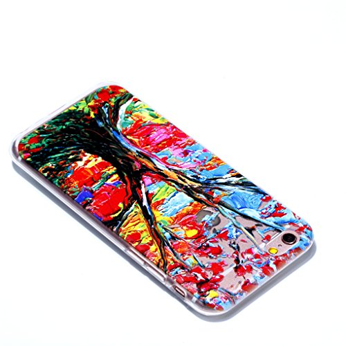 iPhone 6 Plus / 6S Plus Hülle, SATURCASE Schönes Muster Bas-relief Ultra Dünn Weich TPU Gel Silikon Schützend Zurück Case Cover Handy Tasche Schutzhülle Handyhülle Hülle für for Apple iPhone 6 Plus /  Muster-3