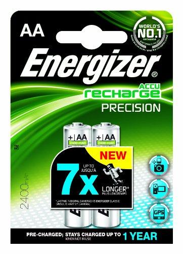 Energizer ENRAA2400P2 NiMH AA/LR6 Akku (2400mAh, R2U Presision, 2er-Blister)