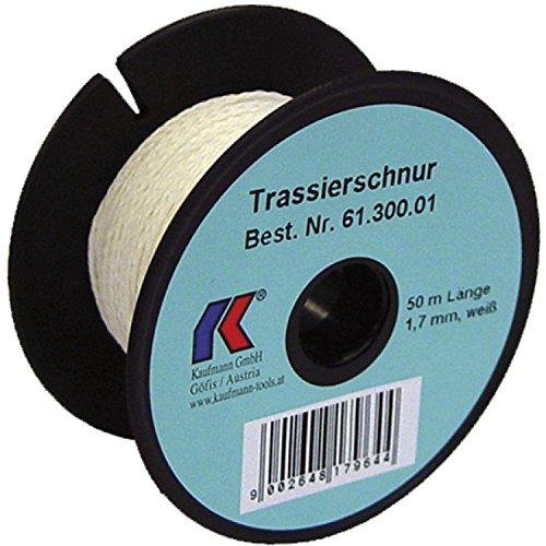 KAUFMANN Trassierschnur, leicht dehnbar, Durchmesser 3 mm, Länge 100 m, weiß, 61.301.02