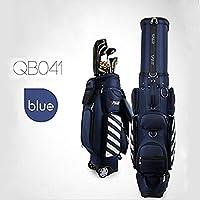 Kofull - Bolsa de golf retráctil con ruedas para viajes, bolsa de golf, azul oscuro