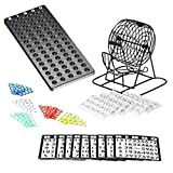 Bingo Spiel Lotterie Maschine aus Metall |75 Schalen | 150 Bingo-Chips |Event Board enthalten -