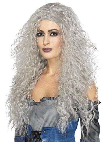 ee Perücke, Lang und Zerzaust, One Size, Grau, 45052 (Banshee Kostüm Halloween)