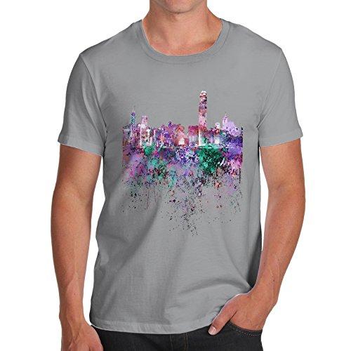TWISTED ENVY  Herren T-Shirt Hellgrau