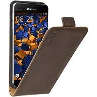 mumbi PREMIUM Etui à clapet pour Samsung Galaxy A3 (2016) - Étui de protection à rabat Flip Style marron