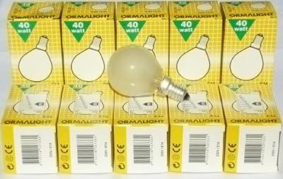 Ormalight Glühlampe Glühbirne matt E14 40W Tropfen 10 Stück Tropfenlampe von Ormalight - Lampenhans.de