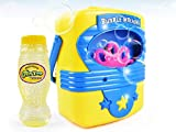 Toys Bhoomi Portable Indoor & Outdoor Electric Automatic Bubble Blowing Machine with 118ml Refill - Non Toxic