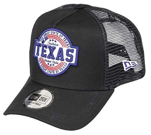 New Era Texas Cap New Era Verstellbar Trucker Usa Patch Sommer Schwarz - One-Size