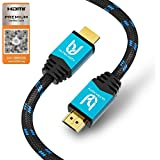 Ultra HDTV 4K HDMI Cable, Premium Certified, HDMI 2.0b, UHD at Full 60Hz (No Jerks) / HDR10+, 3D, ARC, Ethernet, Dolby Vision