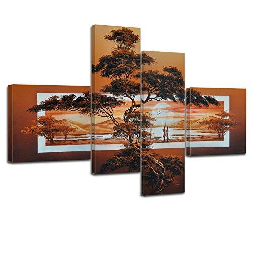 Bilderdepot24 Kunstdruck Afrika M1 - P207-100x70cm - 4teilig preisgünstig und stilsicher