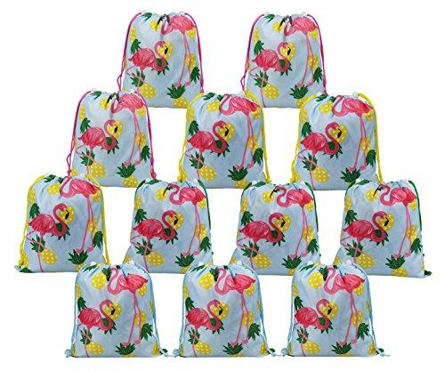 indergeburtstag Geschenktüten Flamingo Ananas 12 Stück Hawaii Luau Partytüten,Tropische Geburtstagsparty Gastgeschenke Kinder Mädchen Jungen, Mitgebseltüten für Sommer Party ()