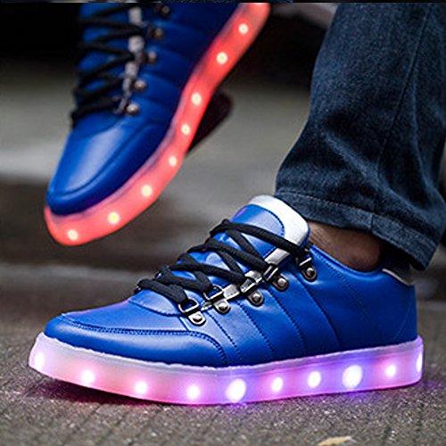 UDreamTime Mens Conduit Lumière Tarification Chaussures Souliers Flash usb Bleu