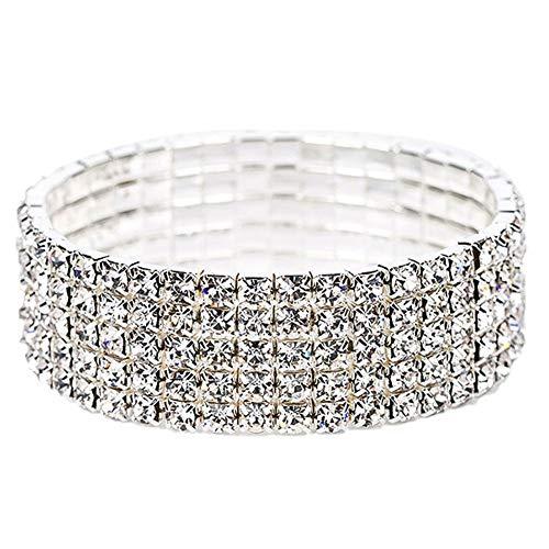 Schicht-Armband-Glänzende Handkette Einfache Elastic Hand Schmuck Für Frauen ()