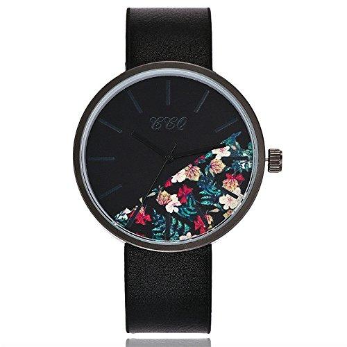 Förderung! Armbanduhr Damen, LEEDY 2019 Frauen Neu Elegant Einfaches Retro Ultradünne Uhren Quarz Analoges Damenuhr mit Lederarmband Kleid Uhr