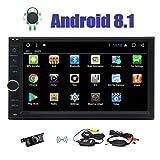 EinCar Android 8.1 Auto-Stereo 7-Zoll-Octa-Core 2 GB RAM 32 GB ROM-Doppelt-Lärm im Schlag-Auto-Radio-Video-Player Bluetooth WiFi SWC Spiegel Link-GPS-Navigation