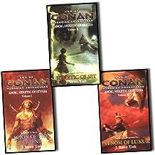 J. Steven York Age of Conan Hyborian Adventures 3 Books Collection Pack Set R...