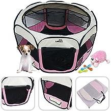 LoliPetFR1HOG200151 P  –Gran parque para animales para dentro o afuera, fácil de montar, color rosa