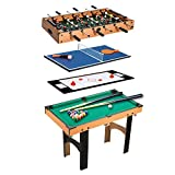 Homcom Table Multi Jeux 4 en 1 babyfoot...