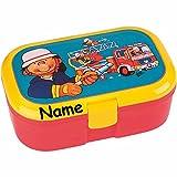 Lunchbox * FEUERWEHRMANN plus WUNSCHNAME * für Kinder von Lutz Mauder // Feuerwehr Brotdose mit Namensdruck // Perfekt für Mädchen & Jungen // Vesperdose Brotzeitbox Brotzeit (mit NAMEN)