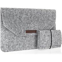 Babotech® 15,4 Zoll Macbook Pro Retina Filz Sleeve Hülle Ultrabook Laptop Tasche Farbe: hellgrau