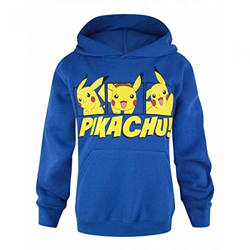 Pokmon-Sudadera-con-Capucha-Oficial-Modelo-Pikachu-para-nio