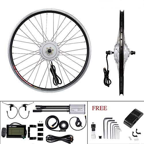 YOSE POWER E-Bike Conversion Kit Front Wheel 36V250W24\'\' Elektrofahrräder Umbausatz Vorderrad 24 Zoll mit LCD Display