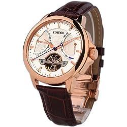Time100 Men's Navigator-Series Tourbillon-Style Mechanical Self Wind Steel Watch #W70035G.02A