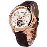 Time100 Orologio automatico uomo marrone in pelle water resistant:50M colore marrone#W70035G.02A