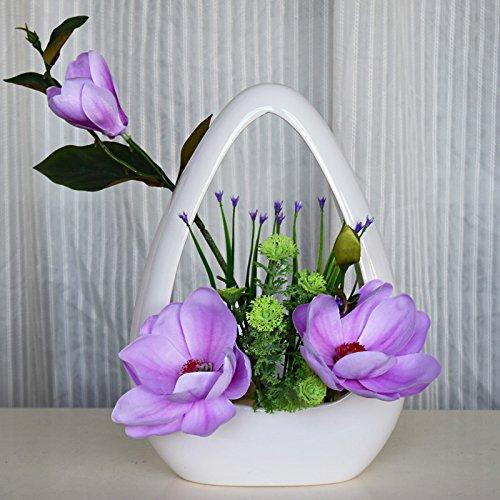 e Künstliche Blumen Dekoration Orchidee Kit Florale Kunst, Weiß Und Violett (Herbst-tabelle Mittelstücke)