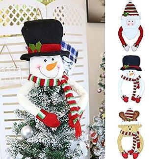 Del árbol de navidad del muñeco de Santa Claus Elk Hugger – Partido de las maravillas interior al aire libre decoraciones de Navidad de Navidad de invierno Casa Decor