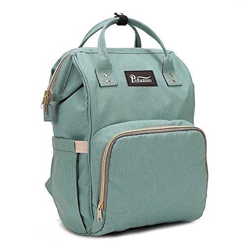 TIFIY Damen Grosse Kapazität Säuglingspflege Feeder Windel Lagerung Mama-Tasche Windel-Tasche Rucksack Schultern Tasche (Minzgrün) (Windel-schultertasche)
