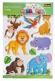 Idena 31260 - Dekosticker Wildtiere, 9-teilig